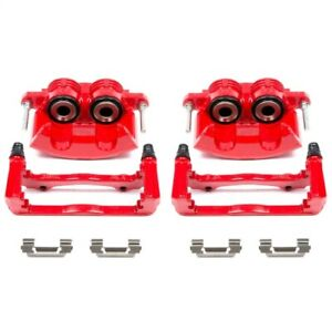 Power Stop S4692 Red Powder Coated Calipers For 98-02 Chevy Camaro 3.8L NEW