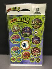 3 New sheets MADBALLS Scrapbook Stickers! One Package Vtg New Old Stock!!!