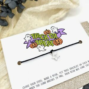 Halloween wish bracelet trick or treat goodies bag, sweet substitute pupil gift