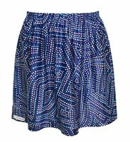 Forty Love - Junior's XL or Women's M - Blue Geometric Polka Dot Tennis Skirt