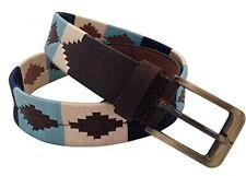 Fait à la main ceinture en cuir brodé polo argentin gaucho style medium/large