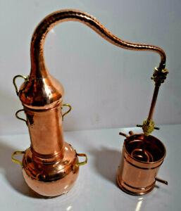 Gebrauchte Kolonnenbrennerei Kupfer 1L - Destille ätherische Öle  1 Liter