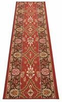 Custom Size Antibacterial Oriental Red Mahal Traditional Non Skid Runner Rug 26W