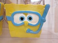 1 pack 12 Shower Curtain Hooks yellow blue snorkel SpongeBob SquarePants