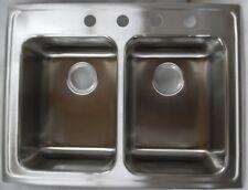 """Elkay LRAD2922604 Gourmet 29"""" Double Bowl Top Mount Sink Stainless Steel"""