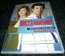 GREY'S ANATOMY SERIES THREE / SEASON 3 EPISODES 1 - 8 DVD
