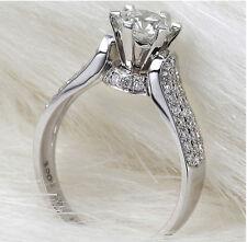 Women's 1.25 Carats Lab Diamond Crown Ring Wedding Engagement Ring Size 6 R33