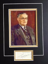 ERNEST BEVIN - LABOUR M.P. AND TRADE UNION LEADER - SIGNED B/W PHOTO DISPLAY
