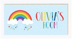 Personalised Handmade Rainbow Name Plaque Bedroom Door Sign