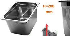 Vaschetta bacinella recipiente aisi 304 acciaio inox per alimenti 32x26 x h20 cm