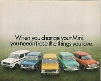 BL Mini 1970-71 UK Market Foldout Sales Brochure 850 1000 Clubman 1275 GT