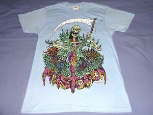 Mastodon Grim Reaper Shirt Medium Light Blue Ozzfest Between The Buried And Me