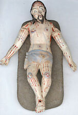 ANTIQUE SCULPTURE JESUS IN DEATH ( The Holy Sepulchre ) stone tomb