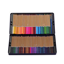 72 Watercolor Colored Pencils Drawing Sketch Set Pre-Sharpened Art Supplies M2N9
