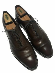 Allen Edmonds Men's Park Ave Brown Calfskin Leather Cap Toe Oxfords - Size 13 C