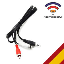ACTECOM® CABLE AUDIO ESTEREO MINI JACK 3.5 mm MACHO A 2 RCA MACHO 1 METRO APROX
