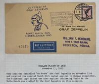 1930 Germany Graf Zeppelin LZ 127 Flight Postcard Cover To Netherlands