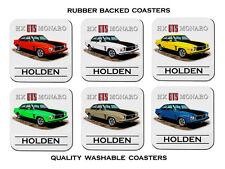 HOLDEN HX GTS MONARO SEDAN   308 V8    SET OF  6  QUALITY RUBBER DRINK  COASTERS