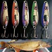 """Nickel  2 5/8""""  Trolling Spoons Lake Erie Walleye Candy (Brass) WEOPENSCALE"""