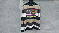 $795 Givenchy American Flag Stripe Rottweiler Oversized Sweater size XXS (L)