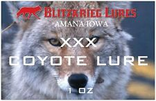 Blitzkrieg Lures-Coyote Lure-Xxx Coyote Lure-1 Oz Shipping Included