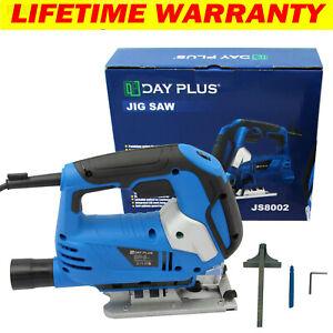 2000W Electric Jigsaw Jig Saw with Wood Metal Plastic Cutting Blade Corded Tool