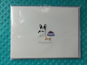 Papyrus Boston Terrier Thank You Card Blank Inside