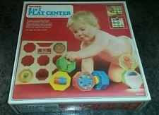 Vintage Baby Play Activity Center Shelcore Toy 1980s Blocks Developmental Crib