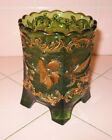 Antique EAPG Early American Pressed Glass Floradora Spooner Green Gold US