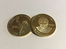 Donald Trump For President 2016 Gold Plated Coin ~Brand New in Case~