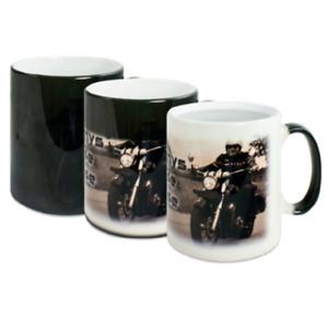 Magic Tasse - Zaubertasse mit eigenen Foto u. Text Wärme Effekt Tasse in Schwarz