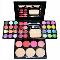39 Colors Eyeshadow Lip Jelly Blush Dry Powder Facial Makeup Palette Travel Set