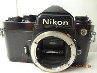 Nikon FE 35mm SLR Camera black body with manual from Japan excellent- cond.2310