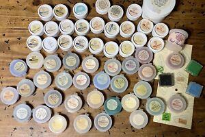 Vtg Lot 60 CHINA PAINT SET-Doll Glass Porcelain Bottle/Palette Jars-Dresden Clay