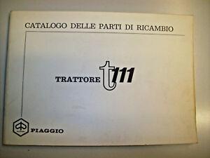 PIAGGIO TRATTORE T111 CATALOGO PARTI RICAMBIO