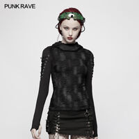 Punk Rave steampunk women long sleeve hoodie t-shirt personality rock COOL top