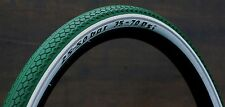 "700x50 Green Whitewall C 29er Schwalbe Bicycle Tires 28"" Antique Wood Wheel Bike"