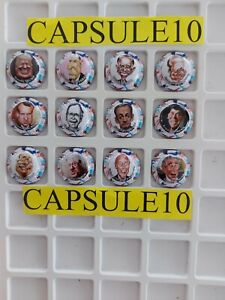 NEWS CAPSULE DE CHAMPAGNE président usa/francais caricature série limitée