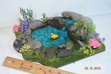Fairy Garden Dollhouse Duck Pond waterfall Diorama Handmade Ooak Custom