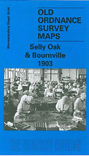OLD ORDNANCE SURVEY MAP BIRMINGHAM SELLY OAK & BOURNVILLE 1903