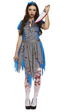 12/14 Zombie Alice In Wonderland Costume Ladies Halloween Fancy Dress Outfit