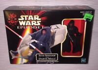 MIB 1998 Hasbro Sith Speeder and Darth Maul with Launching Sith Probe Droid