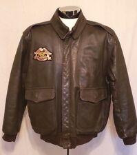 LL Bean Harley Davidson Owner Grp Type A-2 Style Bomber Motorcycle Jacket Sz XL