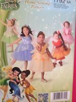 Simplicity Sewing Pattern 1792 Girls Child Disney Fairy Costumes Size 1/2-3 UC