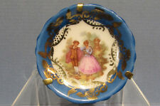 "Framed Tiny Limoges Plate - Sit/ Hang * 1 3/4"" Dia * Goudeville *On Sale* Ad370"