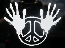 """1 - 4"""" x 5"""" Zombie Peace Hands Decal Sticker Car Boat Atv Motorcycle Glass 2109"""