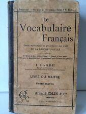 Le vocabulaire français - Livre du maitre -   1896 - Armand Colin
