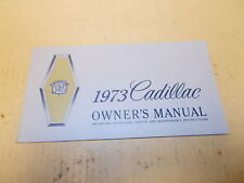 Cadillac NOS 1973 Owners Manual