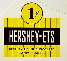 HERSHEY-ETS ONE CENT. VENDING, COINOP, WATER SLIDE DECAL # DH1050