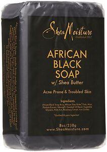 Shea Moisture African Black Soap with Shea butter 8oz / 230g